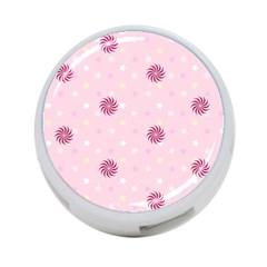 Star White Fan Pink 4-Port USB Hub (One Side)