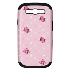 Star White Fan Pink Samsung Galaxy S III Hardshell Case (PC+Silicone)