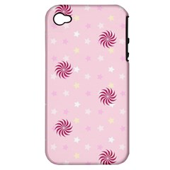 Star White Fan Pink Apple iPhone 4/4S Hardshell Case (PC+Silicone)