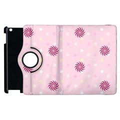 Star White Fan Pink Apple iPad 3/4 Flip 360 Case