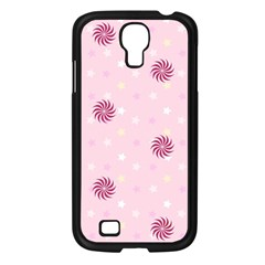 Star White Fan Pink Samsung Galaxy S4 I9500/ I9505 Case (Black)