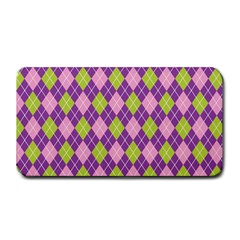 Plaid Triangle Line Wave Chevron Green Purple Grey Beauty Argyle Medium Bar Mats