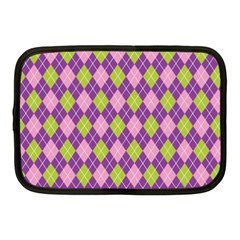 Plaid Triangle Line Wave Chevron Green Purple Grey Beauty Argyle Netbook Case (medium)