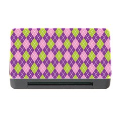 Plaid Triangle Line Wave Chevron Green Purple Grey Beauty Argyle Memory Card Reader with CF