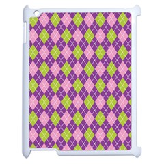 Plaid Triangle Line Wave Chevron Green Purple Grey Beauty Argyle Apple Ipad 2 Case (white)