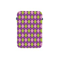 Plaid Triangle Line Wave Chevron Green Purple Grey Beauty Argyle Apple iPad Mini Protective Soft Cases