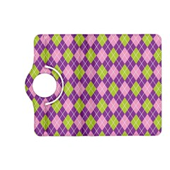 Plaid Triangle Line Wave Chevron Green Purple Grey Beauty Argyle Kindle Fire HD (2013) Flip 360 Case