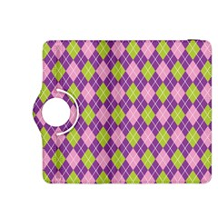 Plaid Triangle Line Wave Chevron Green Purple Grey Beauty Argyle Kindle Fire HDX 8.9  Flip 360 Case