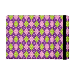 Plaid Triangle Line Wave Chevron Green Purple Grey Beauty Argyle iPad Mini 2 Flip Cases