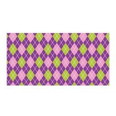 Plaid Triangle Line Wave Chevron Green Purple Grey Beauty Argyle Satin Wrap
