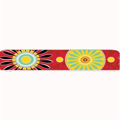 Sunflower Floral Red Yellow Black Circle Small Bar Mats