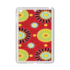 Sunflower Floral Red Yellow Black Circle Ipad Mini 2 Enamel Coated Cases