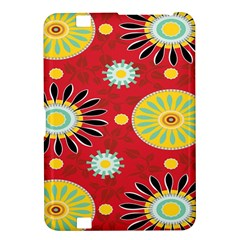 Sunflower Floral Red Yellow Black Circle Kindle Fire HD 8.9