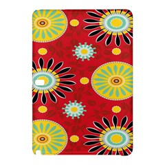 Sunflower Floral Red Yellow Black Circle Samsung Galaxy Tab Pro 12.2 Hardshell Case