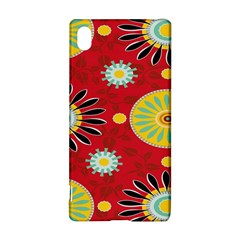 Sunflower Floral Red Yellow Black Circle Sony Xperia Z3+