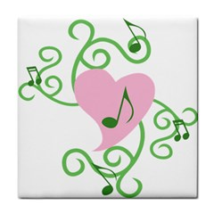 Sweetie Belle s Love Heart Music Note Leaf Green Pink Tile Coasters