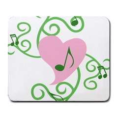 Sweetie Belle s Love Heart Music Note Leaf Green Pink Large Mousepads