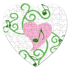 Sweetie Belle s Love Heart Music Note Leaf Green Pink Jigsaw Puzzle (Heart)