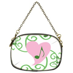 Sweetie Belle s Love Heart Music Note Leaf Green Pink Chain Purses (Two Sides)