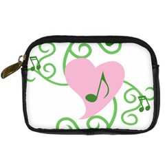 Sweetie Belle s Love Heart Music Note Leaf Green Pink Digital Camera Cases