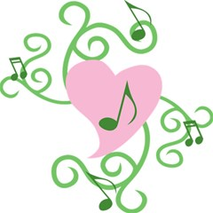 Sweetie Belle s Love Heart Music Note Leaf Green Pink Magic Photo Cubes