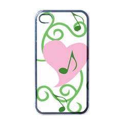 Sweetie Belle s Love Heart Music Note Leaf Green Pink Apple iPhone 4 Case (Black)