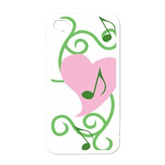 Sweetie Belle s Love Heart Music Note Leaf Green Pink Apple iPhone 4 Case (White)