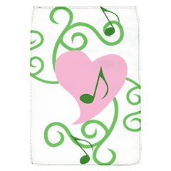 Sweetie Belle s Love Heart Music Note Leaf Green Pink Flap Covers (L)