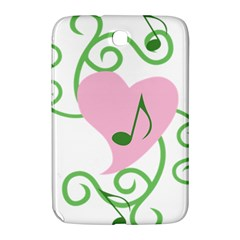 Sweetie Belle s Love Heart Music Note Leaf Green Pink Samsung Galaxy Note 8.0 N5100 Hardshell Case