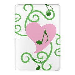 Sweetie Belle s Love Heart Music Note Leaf Green Pink Samsung Galaxy Tab Pro 10.1 Hardshell Case