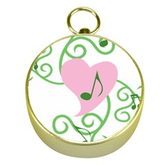 Sweetie Belle s Love Heart Music Note Leaf Green Pink Gold Compasses