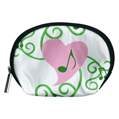 Sweetie Belle s Love Heart Music Note Leaf Green Pink Accessory Pouches (Medium)