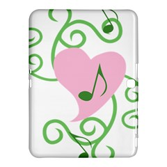 Sweetie Belle s Love Heart Music Note Leaf Green Pink Samsung Galaxy Tab 4 (10.1 ) Hardshell Case