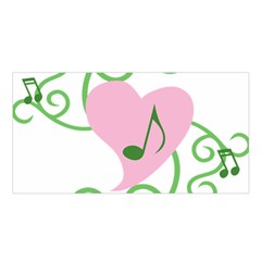Sweetie Belle s Love Heart Music Note Leaf Green Pink Satin Shawl