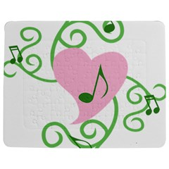 Sweetie Belle s Love Heart Music Note Leaf Green Pink Jigsaw Puzzle Photo Stand (Rectangular)