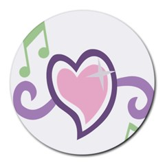 Sweetie Belle s Love Heart Star Music Note Green Pink Purple Round Mousepads