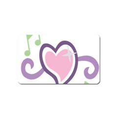Sweetie Belle s Love Heart Star Music Note Green Pink Purple Magnet (Name Card)