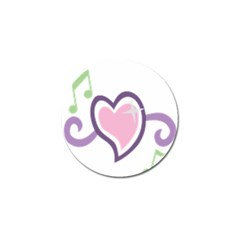 Sweetie Belle s Love Heart Star Music Note Green Pink Purple Golf Ball Marker (4 pack)