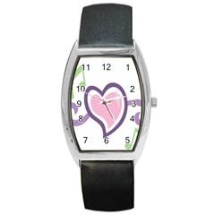 Sweetie Belle s Love Heart Star Music Note Green Pink Purple Barrel Style Metal Watch