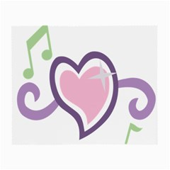 Sweetie Belle s Love Heart Star Music Note Green Pink Purple Small Glasses Cloth (2-Side)