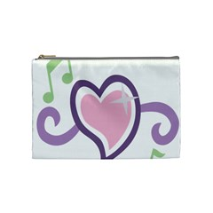 Sweetie Belle s Love Heart Star Music Note Green Pink Purple Cosmetic Bag (Medium)