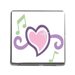 Sweetie Belle s Love Heart Star Music Note Green Pink Purple Memory Card Reader (Square)