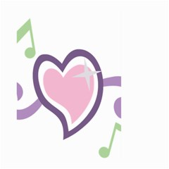 Sweetie Belle s Love Heart Star Music Note Green Pink Purple Large Garden Flag (Two Sides)