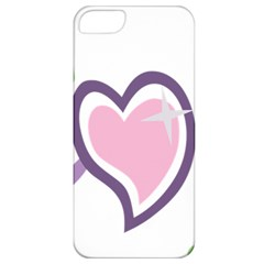 Sweetie Belle s Love Heart Star Music Note Green Pink Purple Apple iPhone 5 Classic Hardshell Case