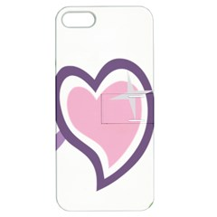 Sweetie Belle s Love Heart Star Music Note Green Pink Purple Apple iPhone 5 Hardshell Case with Stand