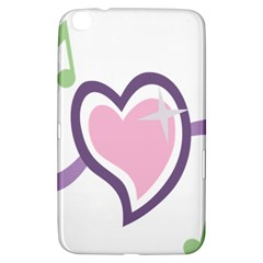 Sweetie Belle s Love Heart Star Music Note Green Pink Purple Samsung Galaxy Tab 3 (8 ) T3100 Hardshell Case