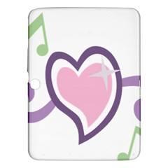 Sweetie Belle s Love Heart Star Music Note Green Pink Purple Samsung Galaxy Tab 3 (10.1 ) P5200 Hardshell Case