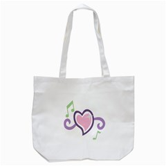 Sweetie Belle s Love Heart Star Music Note Green Pink Purple Tote Bag (White)