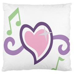 Sweetie Belle s Love Heart Star Music Note Green Pink Purple Large Flano Cushion Case (Two Sides)