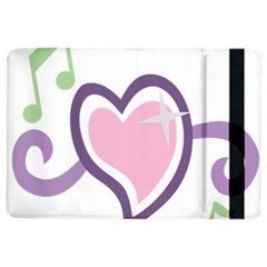 Sweetie Belle s Love Heart Star Music Note Green Pink Purple iPad Air 2 Flip